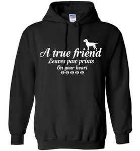 True Friend Leaves Paw Prints Dog Hoodie - OlalaShirt