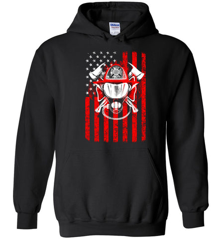 Image of We Remember Flag Of Courage Firefighter Hoodie - OlalaShirt