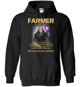 Farmer Someone Who Does Precision Hoodie