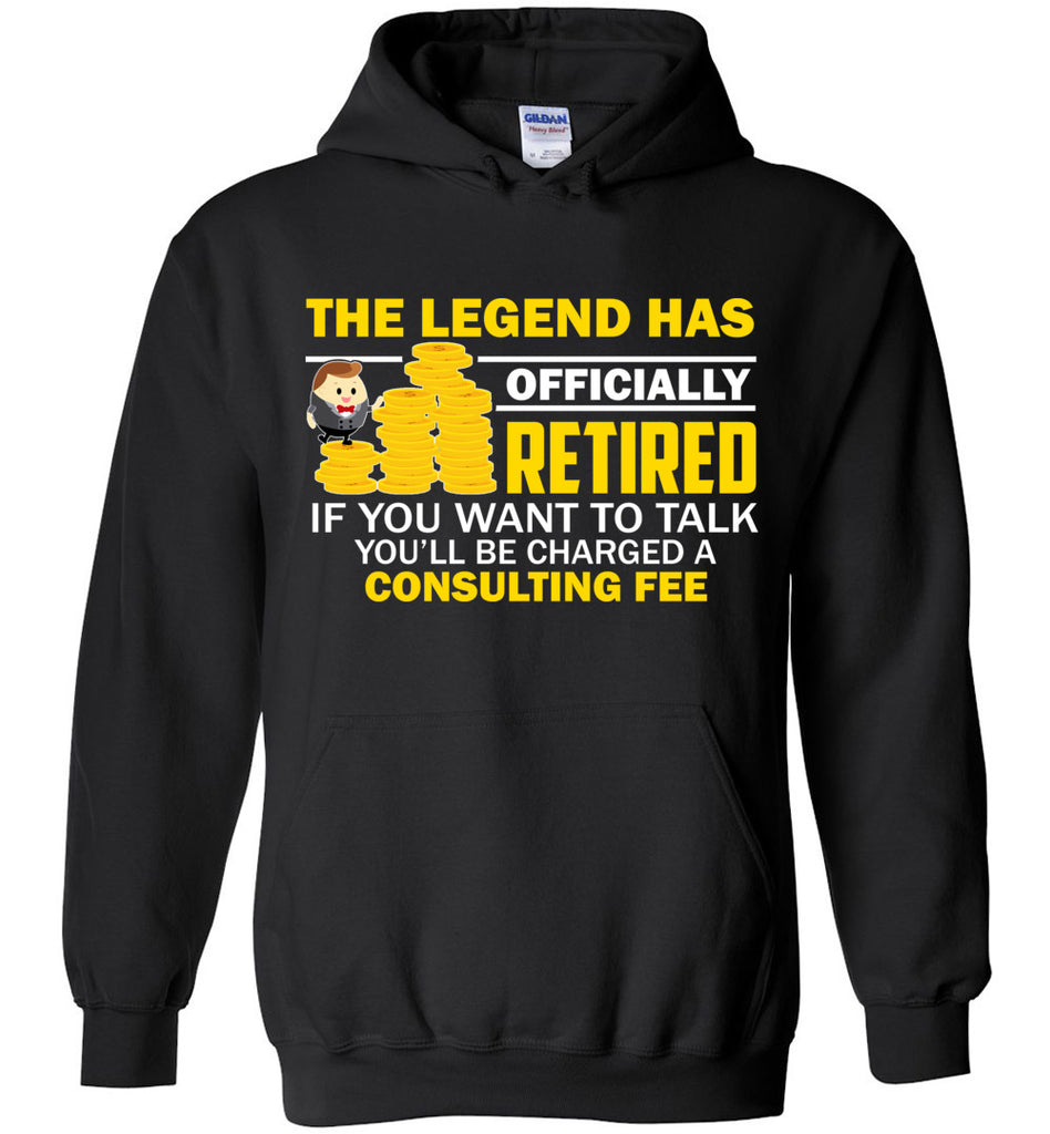 66db8cae The Legend Has Officially Retired Funny Retirement Hoodie – OlalaShirt