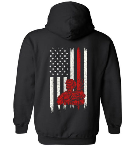 Distressed Baker Gift With American Flag Hoodie