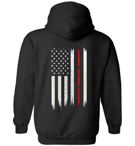 Distressed Glazier Gift With American Flag Hoodie