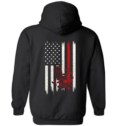 Distressed Barber Gift With American Flag Hoodie