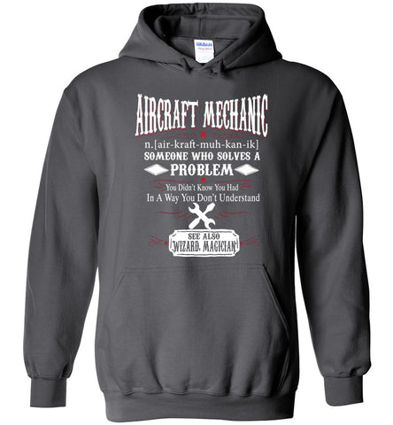 Funny Aircraft Mechanic Meaning Hoodie Noun Definition Gift
