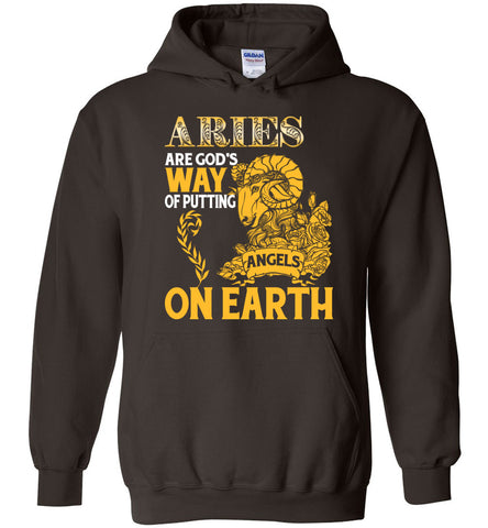Image of Aries Are God's Way Of Putting Angels On Earth Hoodie