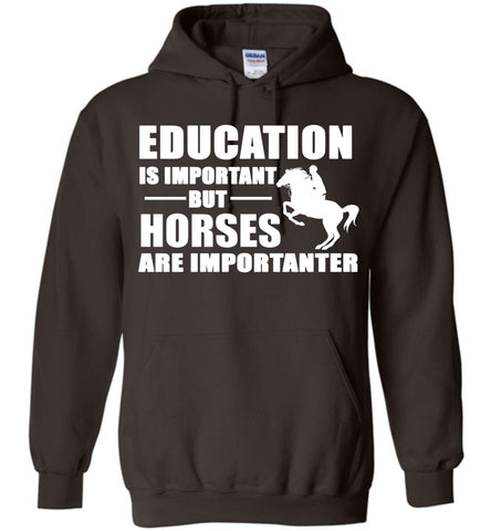 Image of Education Is Important But Horses Are Importanter  Hoodie
