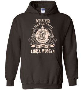Never Underestimate Power Of A Virgo Woman Hoodie - OlalaShirt