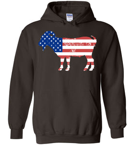 Goat American Flag Fourth of July 4th Celebration Party Hoodie