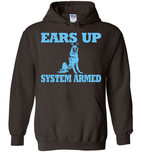 Ears Up System Armed German Sherpherd Hoodie