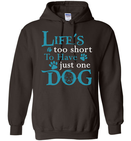 Image of Life's Too Short To Have Just One Dog Hoodie - OlalaShirt