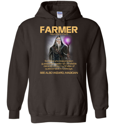 Image of Farmer Someone Who Does Precision Hoodie
