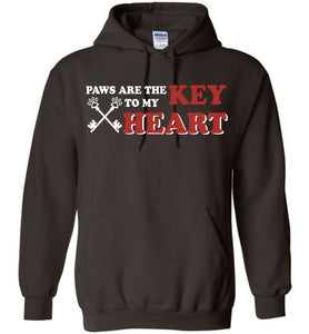 Paws Are The Key To My Heart Dog Hoodie - OlalaShirt