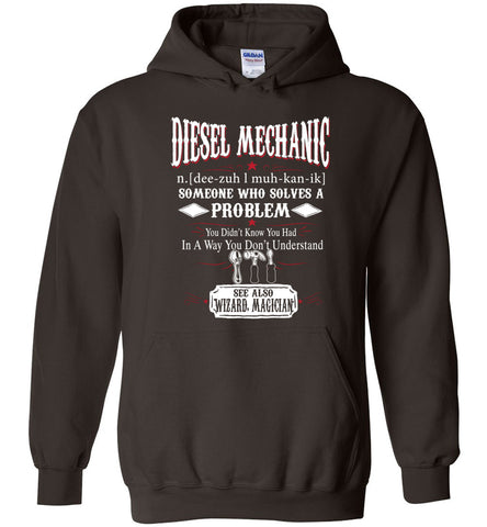 Funny Diesel Mechanic Meaning Hoodie Noun Definition Gift