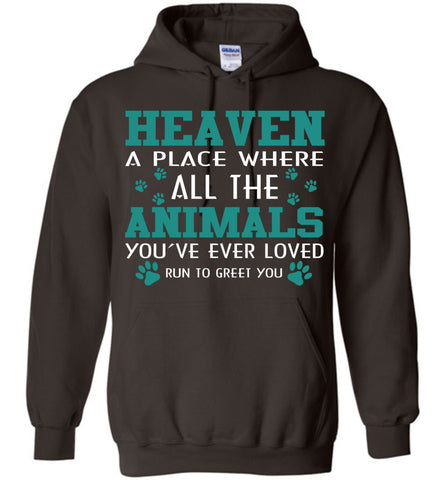 Image of Heaven A Place Where All Dog Hoodie