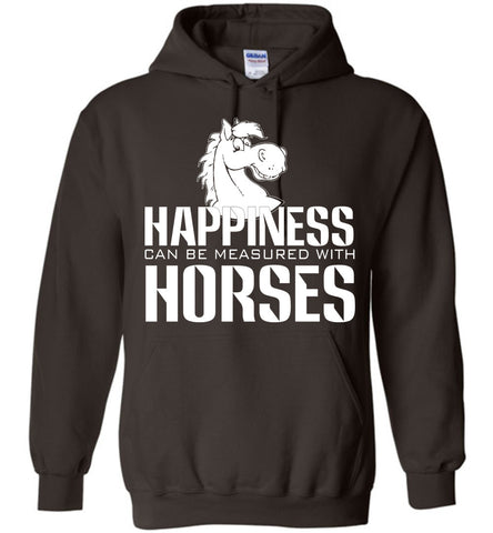 Image of Happiness Can Be Measured With Horses Hoodie