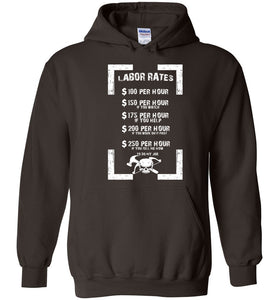 Carpenter Labor Rates Funny Woodwooking Hoodie - OlalaShirt