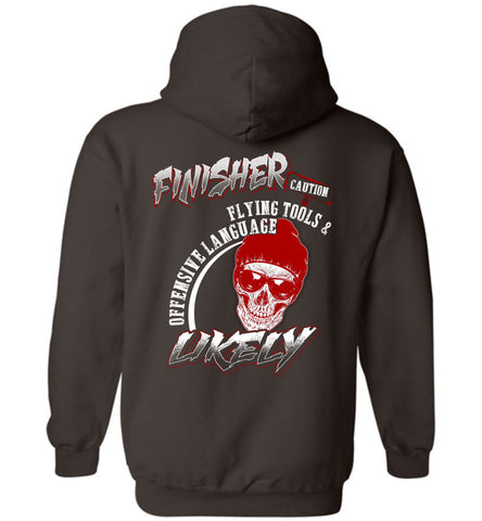 Finisher Caution Flying Tools And Offensive Hoodie