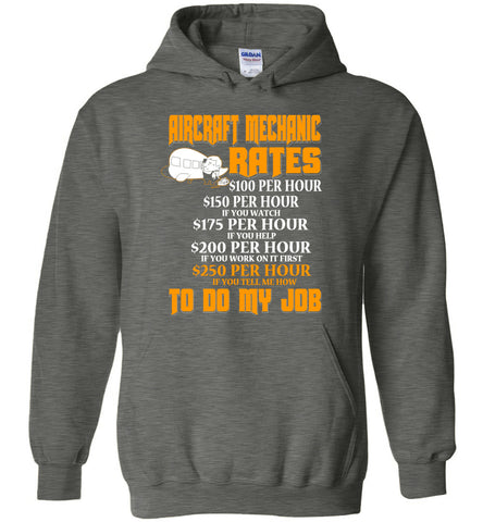 Aircraft Mechanic Hourly Rate Hoodie