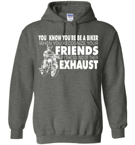 You Know You're A Biker When You Recognize Hoodie - OlalaShirt