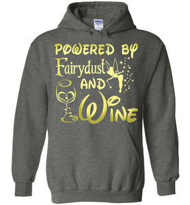 Powered By Fairydust And Wine Hoodie - OlalaShirt