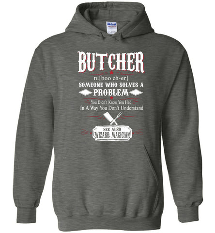 Funny Butcher Meaning Hoodie Noun Definition Gift