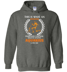 This Is What An Awesome Passionate Aquarius Looks Like Hoodie