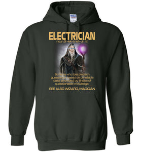 Electrician Someone Who Does Precision Hoodie