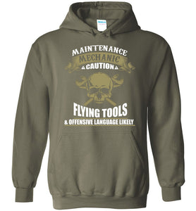 Maintenance Mechanic Caution Funny Hoodie - OlalaShirt