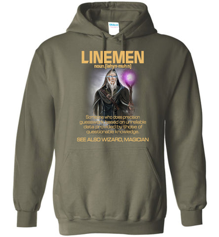 Image of Linemen Someone Who Does Precision Hoodie - OlalaShirt