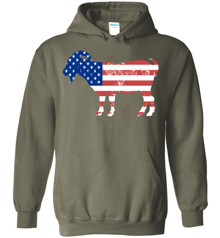 Image of Goat American Flag Fourth of July 4th Celebration Party Hoodie