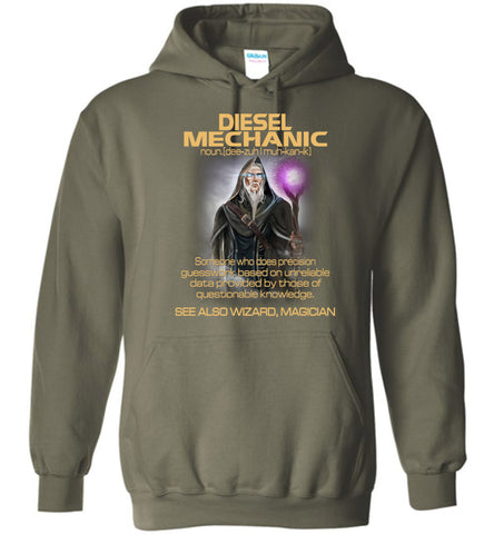 Image of Diesel Mechanic Someone Who Does Precision Hoodie - OlalaShirt