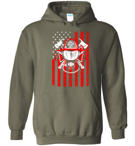 We Remember Flag Of Courage Firefighter Hoodie - OlalaShirt