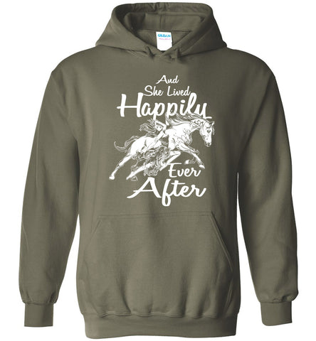 Image of Horse And She Lived Happily Ever After  Hoodie