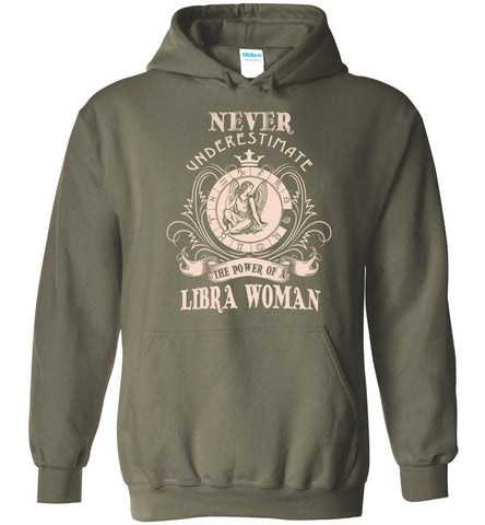 Image of Never Underestimate Power Of A Virgo Woman Hoodie - OlalaShirt