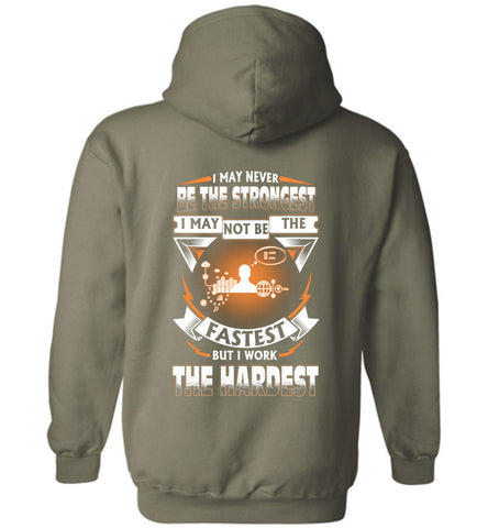 Administrative Assistant Never Strongest Work The Hardest Hoodie