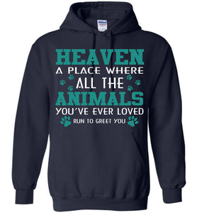 Heaven A Place Where All Dog Hoodie