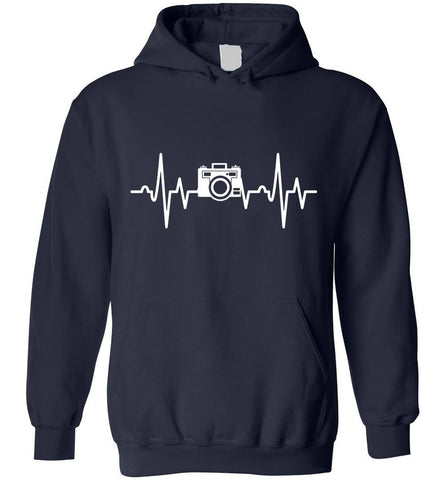Image of Photographer Heartbeat Photography Gift Hoodie
