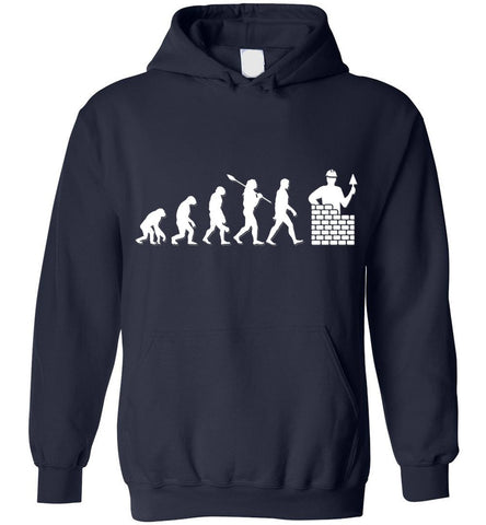 Image of Bricklayer Evolution Funny Gift Hoodie