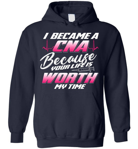 Image of Nursing - I Became A Cna Funny Gift Hoodie