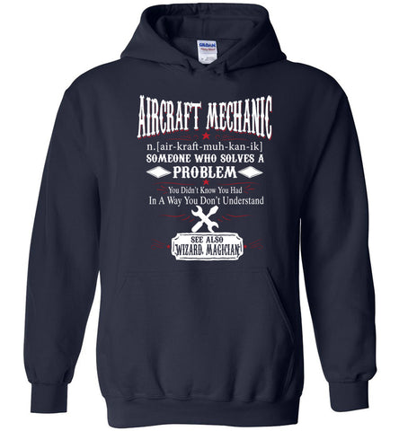 Image of Funny Aircraft Mechanic Meaning Hoodie Noun Definition Gift