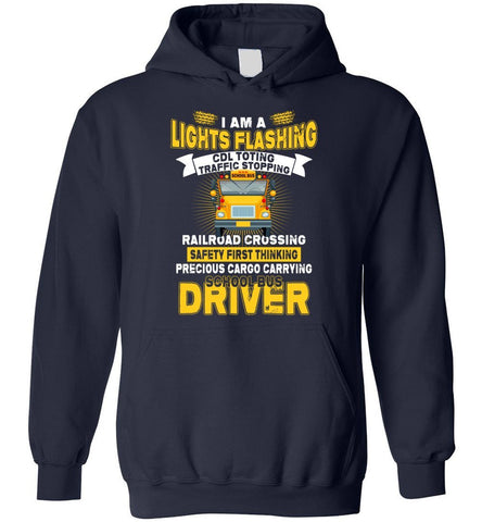 Safety First Thinking School Bus Driver Hoodie