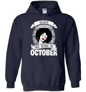 Black Queens Are Born In October Hoodie