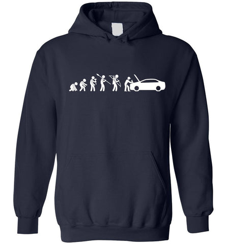 Evolution Mechanic Funny Automotive Technician Gift Hoodie