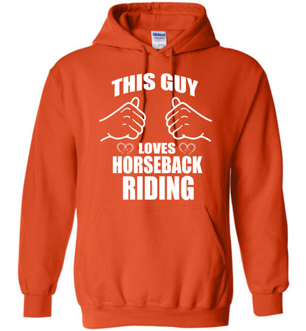 Image of This Guy Loves Horseback Riding Hoodie - OlalaShirt