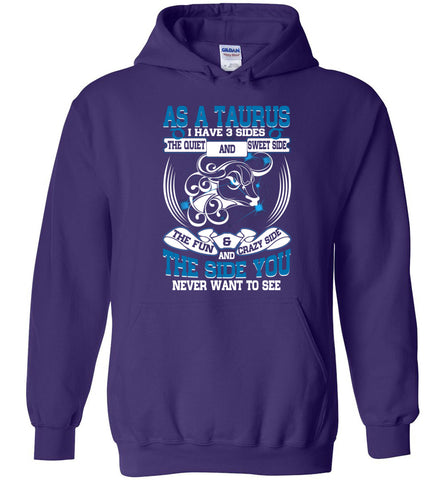 Image of As A Taurus I Have 3 Sides The Quiet And Sweet Side Hoodie