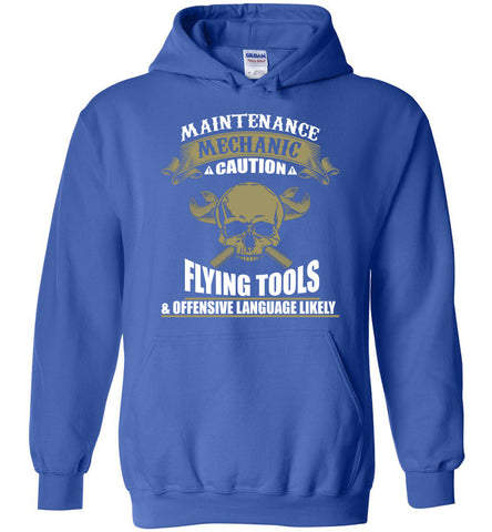 Image of Maintenance Mechanic Caution Funny Hoodie - OlalaShirt