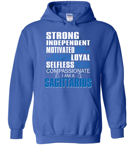 Image of Sagittarius Strong Independent Motivated Hard Working Reliable Hoodie