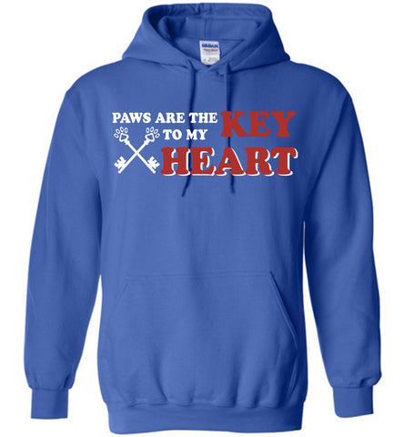 Image of Paws Are The Key To My Heart Dog Hoodie - OlalaShirt