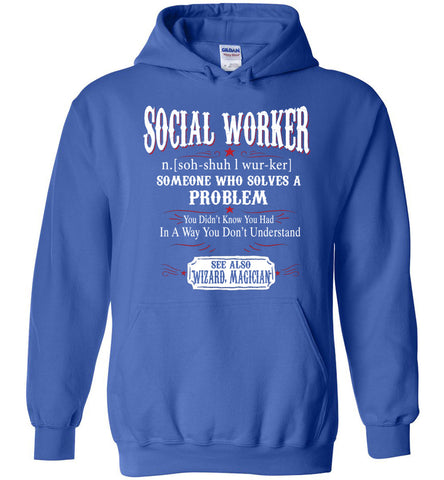 Funny Social Worker Meaning Hoodie Noun Definition Gift