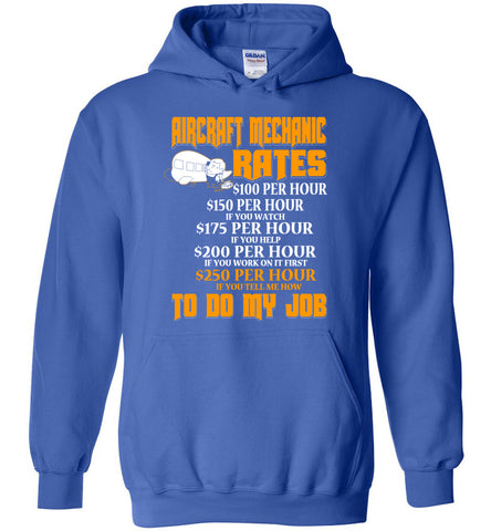Image of Aircraft Mechanic Hourly Rate Hoodie